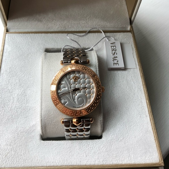 c7225839 VERSACE VANITAS WOMENS WATCH NEW TWO TONE NWT
